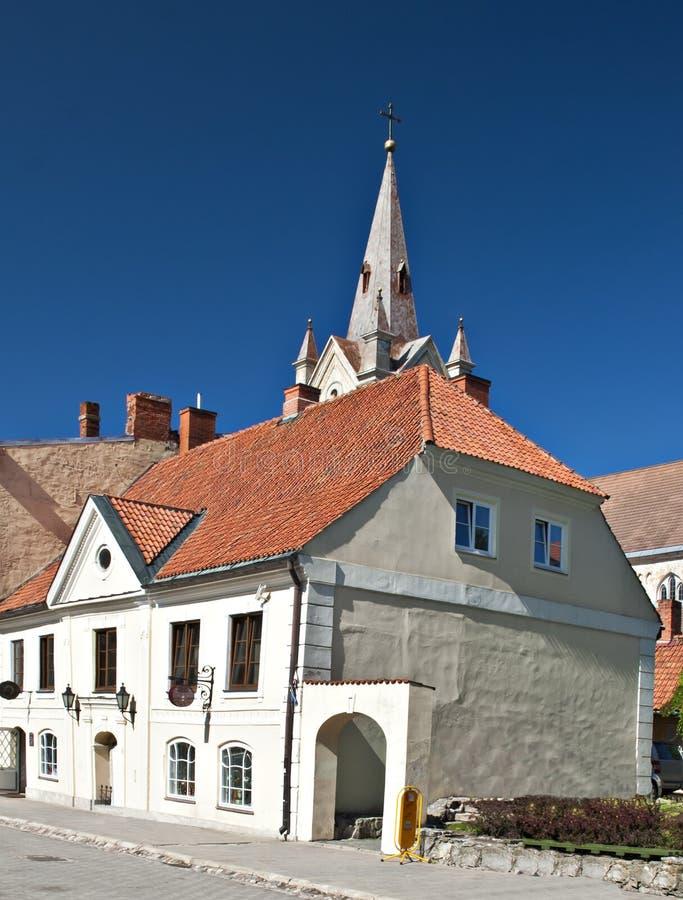 Centre de vieille ville de Cesis, Lettonie, l'Europe images libres de droits