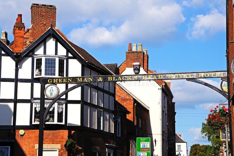 Centre de ville, Ashbourne image stock