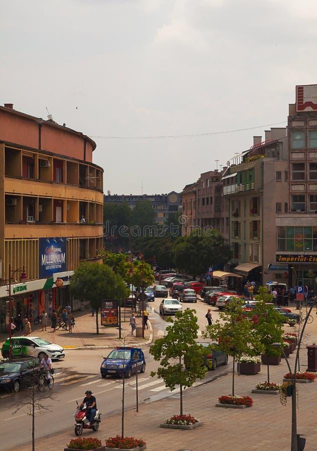 Centre de ville de Cacak photographie stock