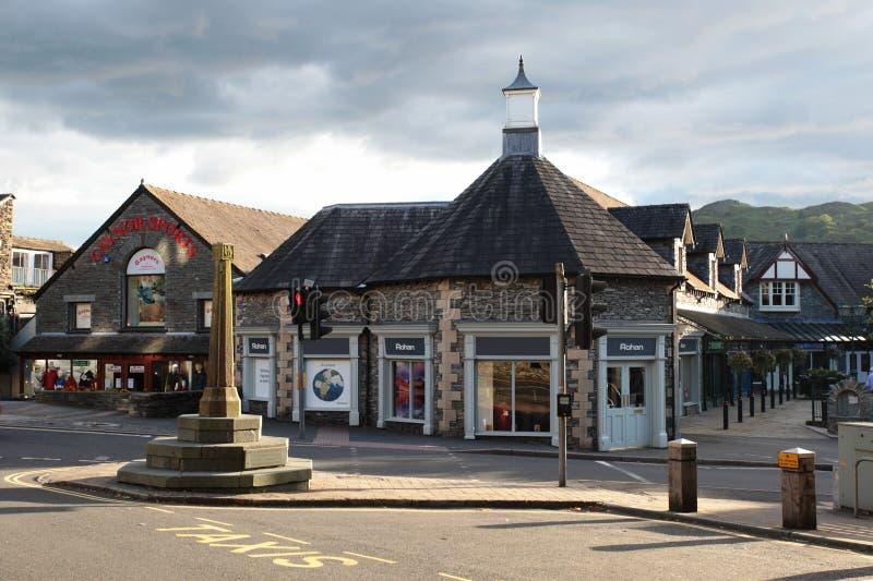 Centre de ville dans Ambleside Angleterre photos stock
