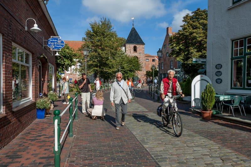 Centre de ville de Greetsiel, Allemagne images stock