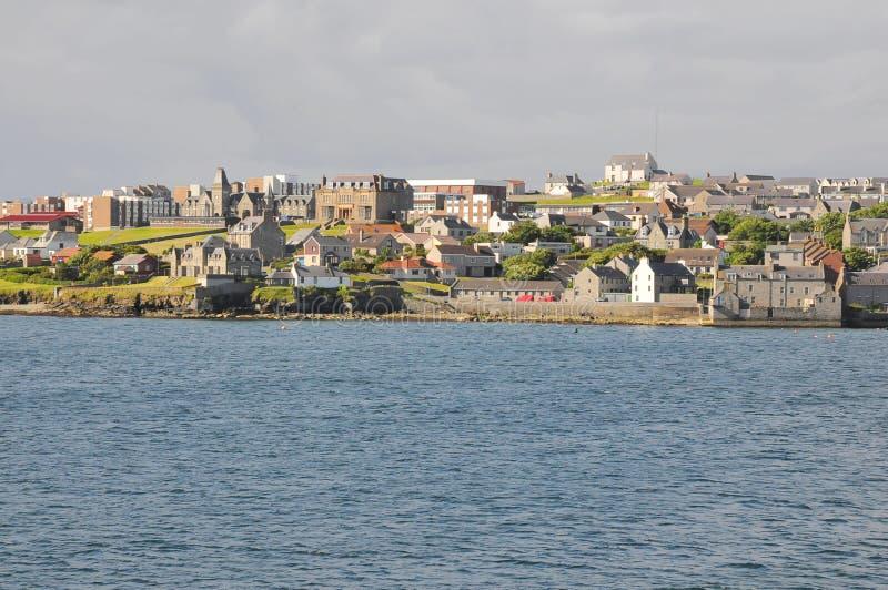 Centre de ville de Lerwick, bord de la mer image stock