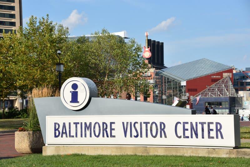 Centre de visiteur de Baltimore dans le Maryland photo libre de droits