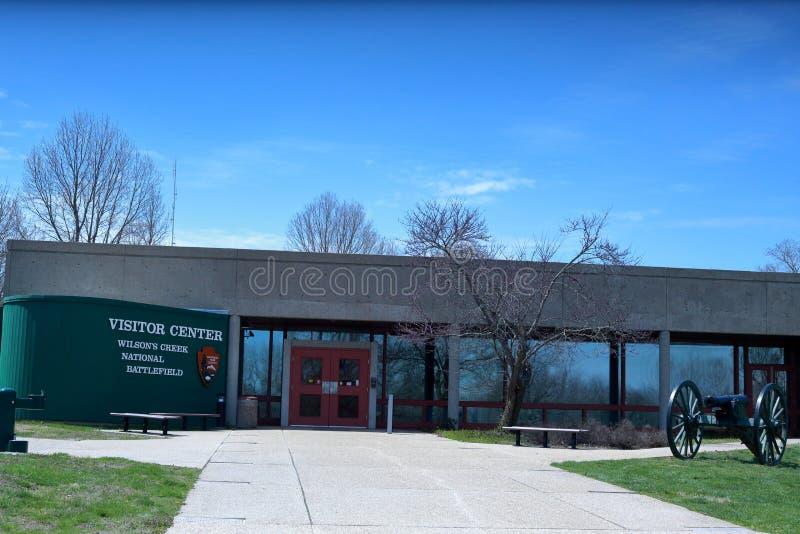Centre de visiteur chez Wilson Creek National Battlefield image stock