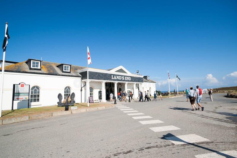 Centre de visiteur d'extrémité de terres. photographie stock libre de droits