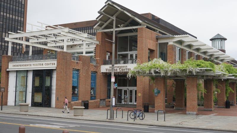 Centre de visiteur de l'indépendance à Philadelphie image stock