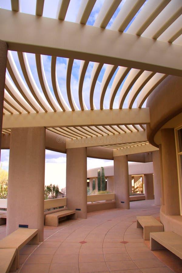 Centre de visiteur de Saguaro photo libre de droits