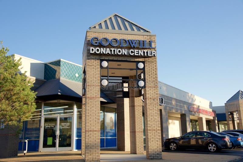 Centre et magasin de donation de bonne volonté images stock