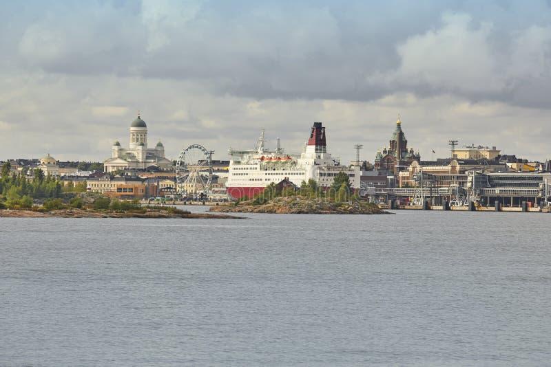 Centre et port de la ville d'horizon de Helsinki Voyage Finlande photo libre de droits