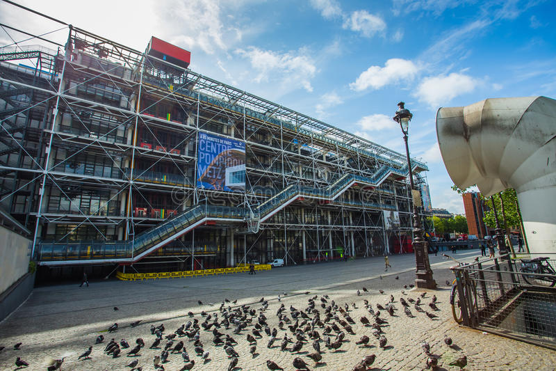 Centre Georges Pompidou in Paris stockfotografie