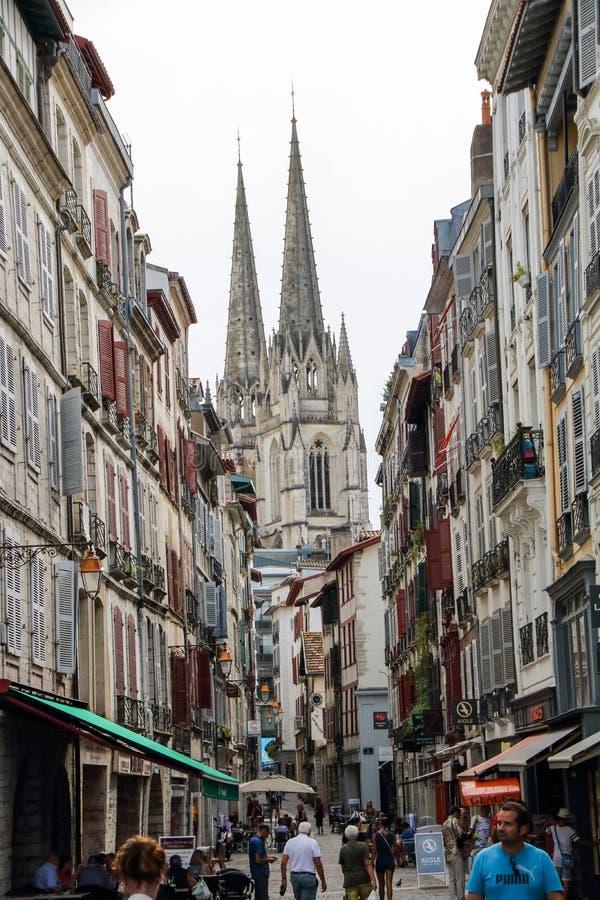 Centre historique de Bayonne photos libres de droits