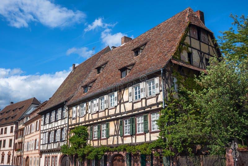 Centre historique du Wissembourg, Alsace, France photographie stock