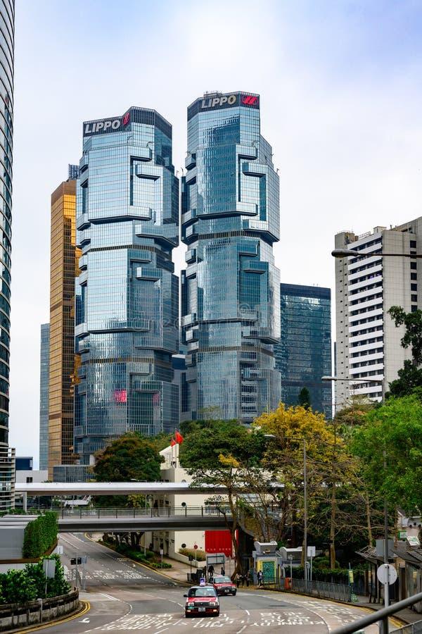Centre Hong Kong, gratte-ciel de Lippo, images libres de droits