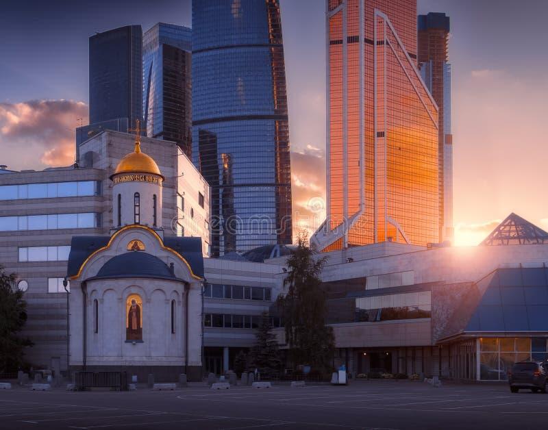 Centre international d'affaires de ville de Moscou photo stock