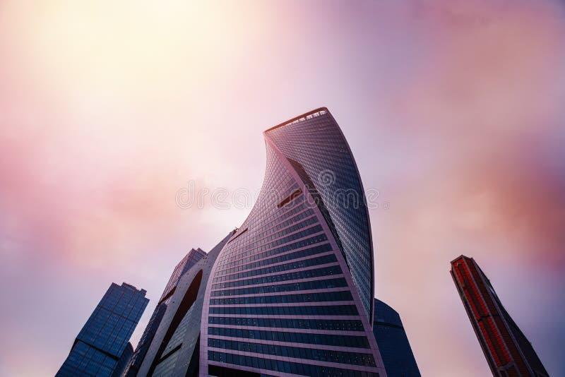 Centre international d'affaires de ville de Moscou image libre de droits