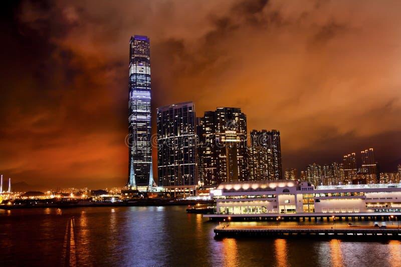 Centre international Kowloon Hong Kong de commerce images stock