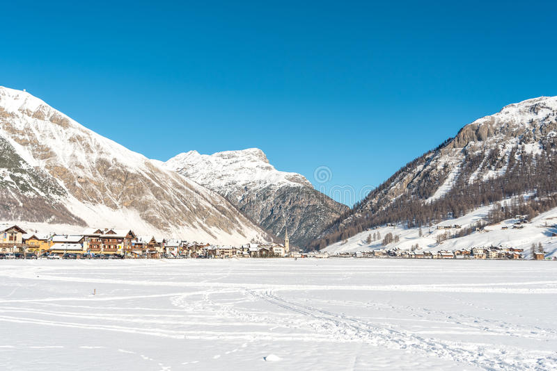 Download Centre of Livigno in Italy stock image. Image of bright - 89625705