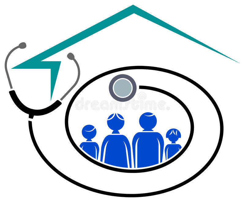 Centre médico-social de famille illustration libre de droits