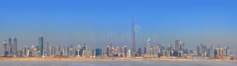 centre miasta Dubai panoramy drapacz chmur zdjęcia royalty free