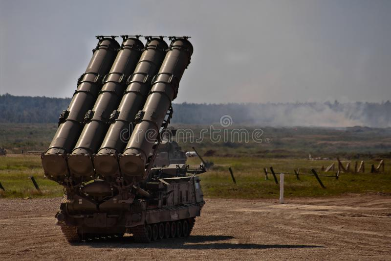 Centre militaire Alabino, région de Moscou/Russie : Le 24 août 2018 images stock