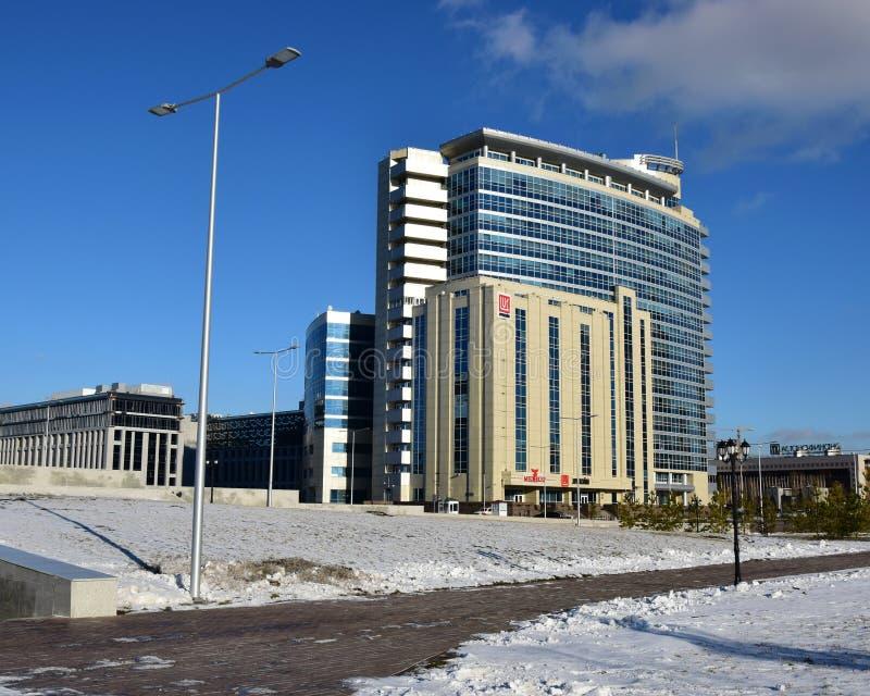 Centre moderne d'affaires à Astana, Kazakhstan photos libres de droits