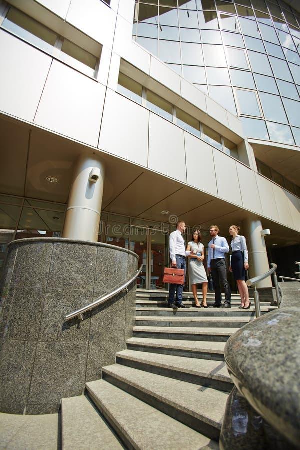 Centre moderne d'affaires dans la ville photographie stock libre de droits