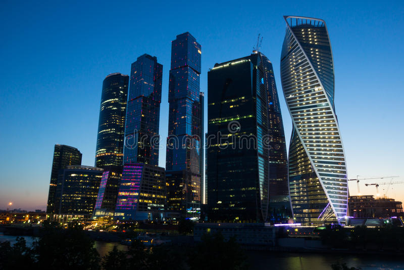 Centre Moscou-Sity d'affaires de Moscou image stock