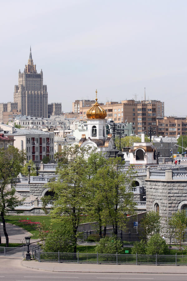 Centre of Moscow - Russia royalty free stock photo
