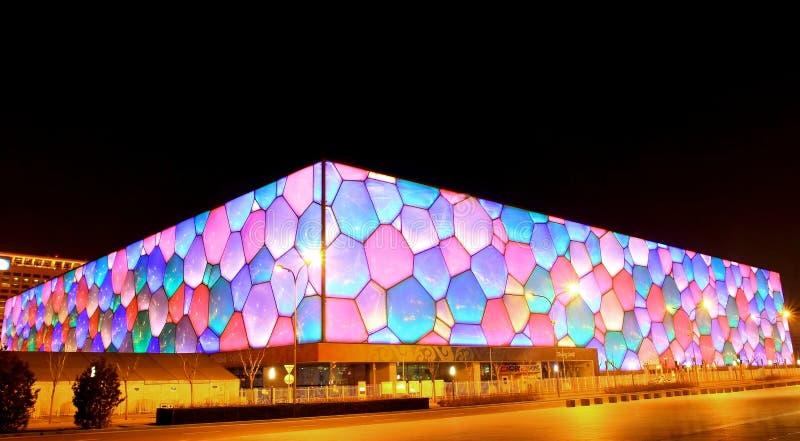Centre national d'Aquatics (cube en eau) photos libres de droits