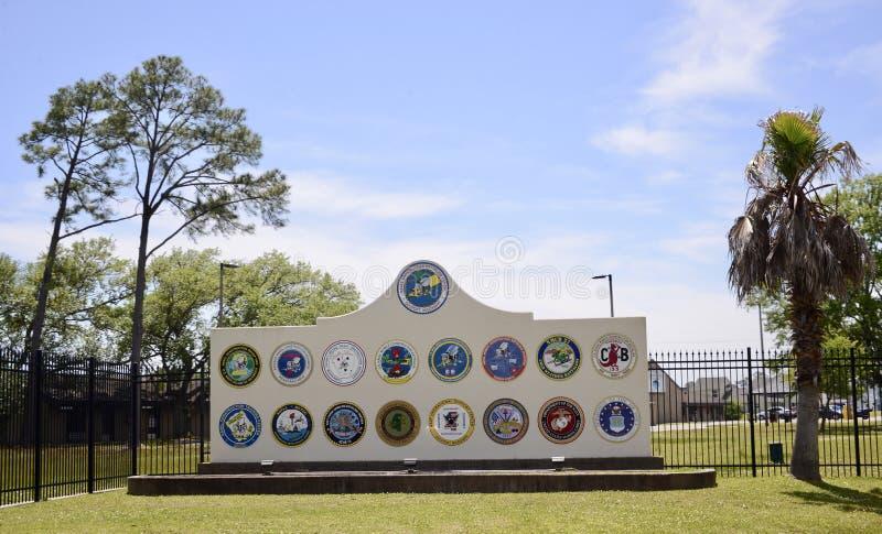 Centre naval de bataillon de construction, Gulfport, Mississippi photo stock