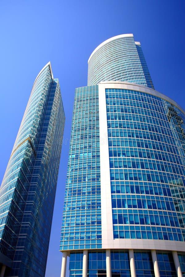Centre neuf d'affaires de gratte-ciel dans la ville de Moscou photos stock