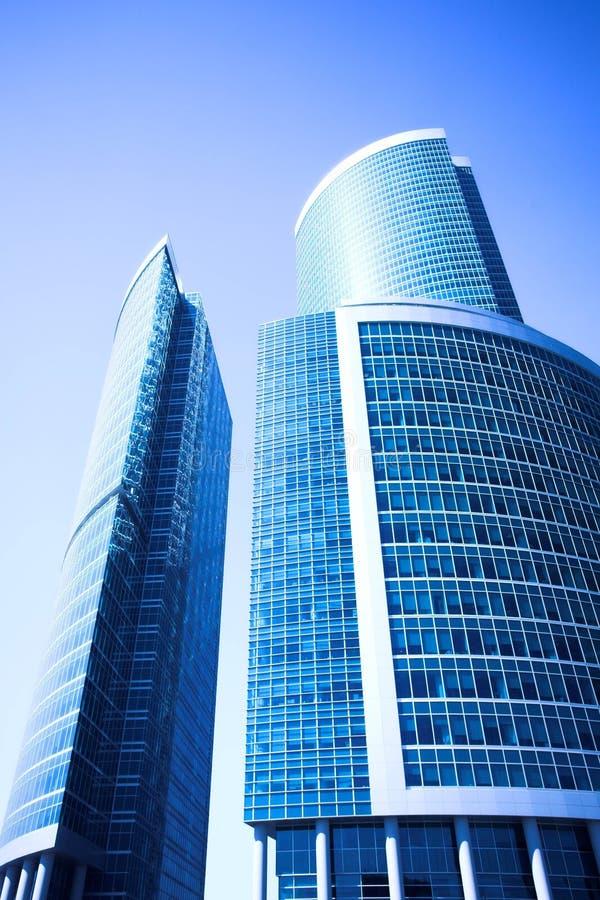 Centre neuf d'affaires de gratte-ciel dans la ville de Moscou images stock