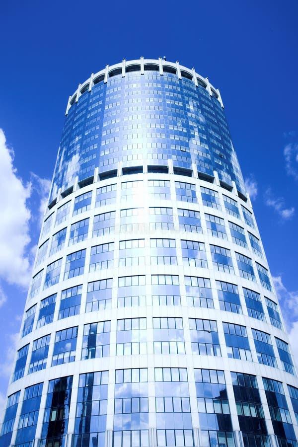 Centre neuf d'affaires de gratte-ciel dans la ville de Moscou images libres de droits