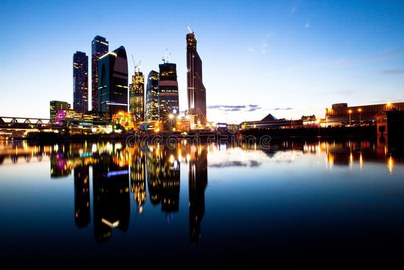 Centre neuf d'affaires de Moscou de gratte-ciel. images libres de droits