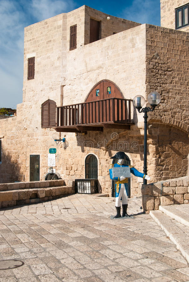 The centre of old city of Jaffa, Israel stock photography