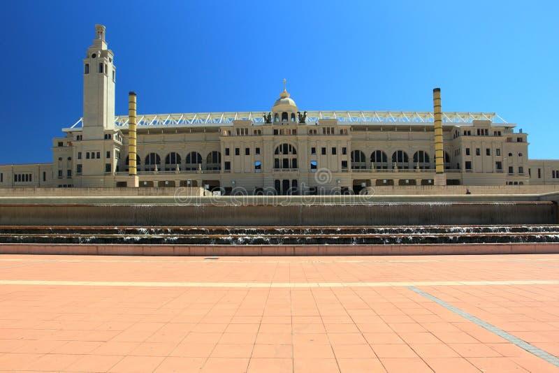 Centre olympique à Barcelone image libre de droits