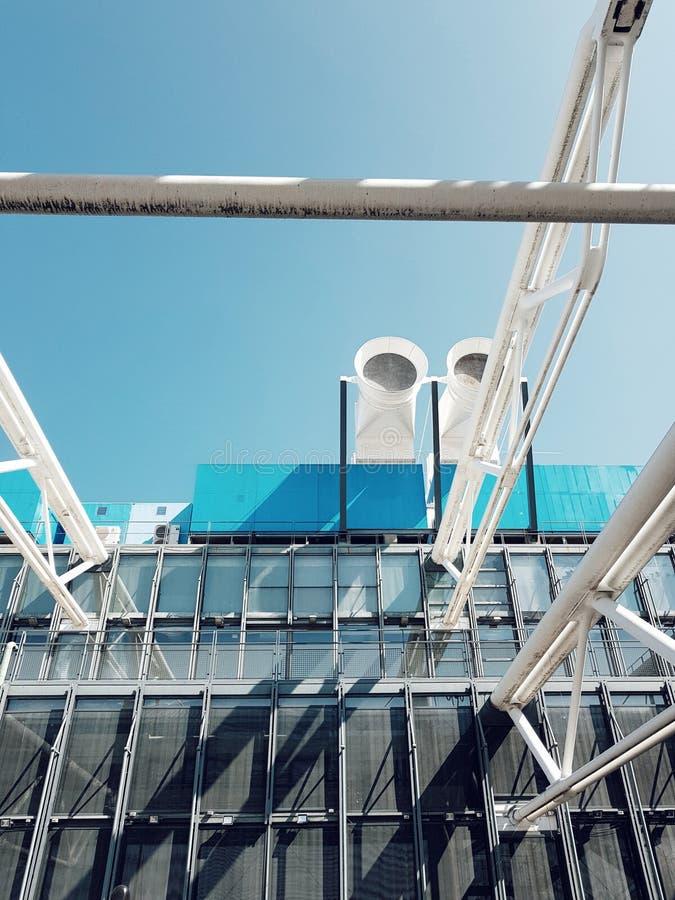 Centre Pompido, mistrzowski kawałek deconstruction architektura w Paris zdjęcia royalty free