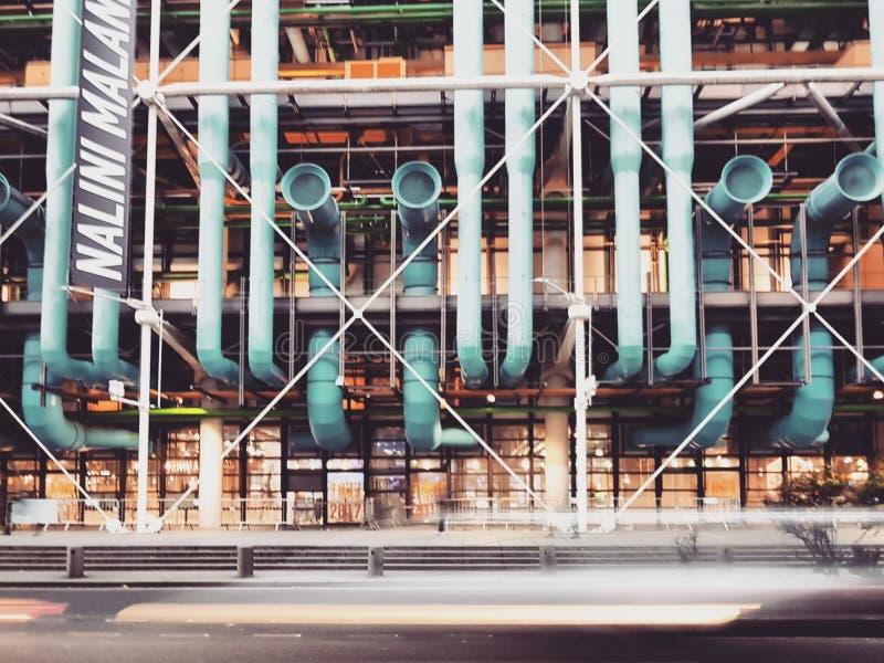 Centre Pompidou a arquitetura a mais famosa da desconstrução no mundo, Paris, França imagens de stock