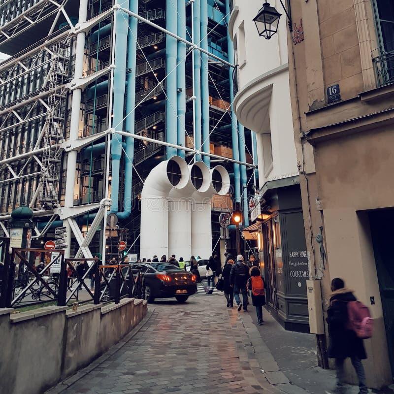 Centre Pompidou, Deconstruction architektura w Paris zdjęcia royalty free