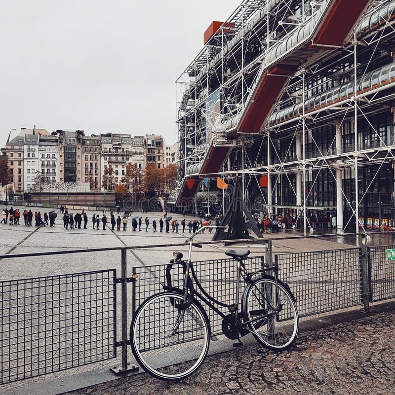 Centre Pompidou, Deconstruction architektura w Paris obraz royalty free