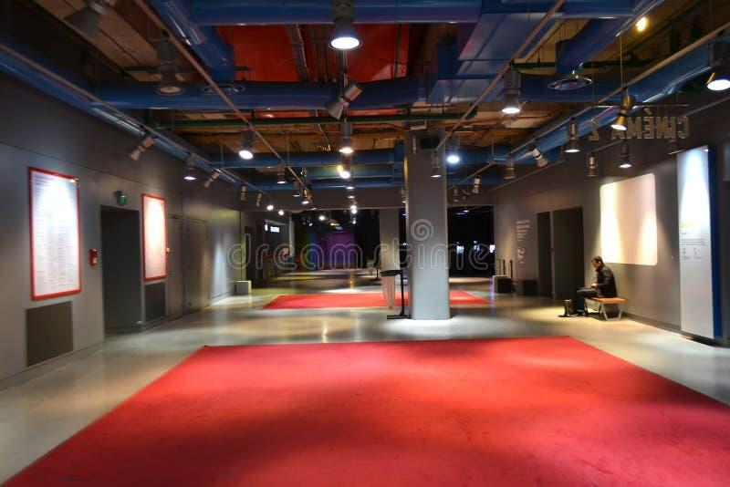 Centre Pompidou interno a Parigi fotografie stock