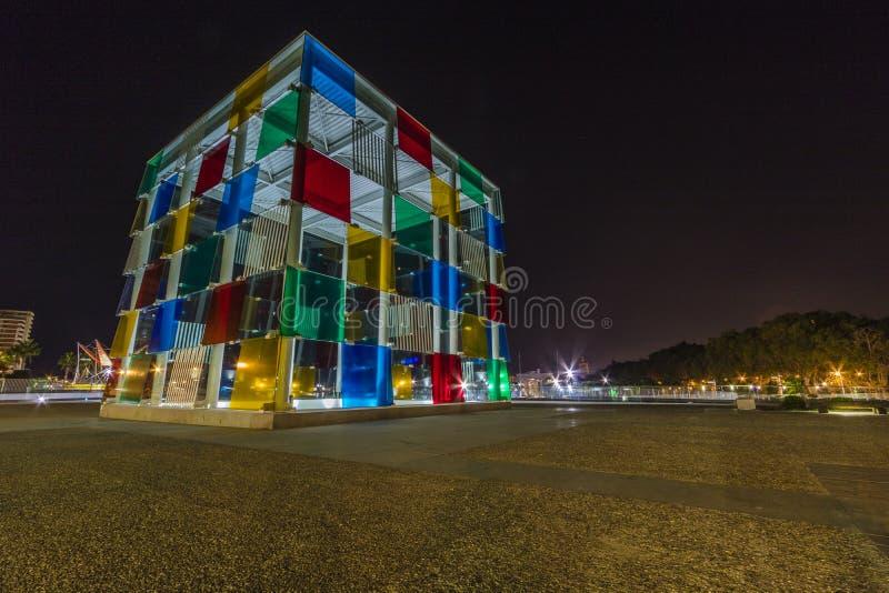 Centre Pompidou, Málaga foto de archivo libre de regalías