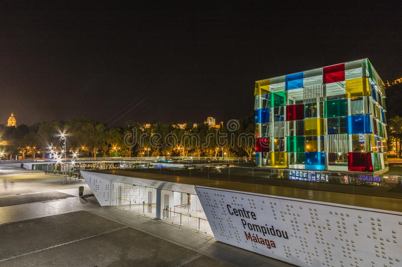 Centre Pompidou, Malaga. The world famous gallery Centre Pompidou has come to Malaga. Without doubt the Pompidou art center in Paris is one of the greatest homes stock images