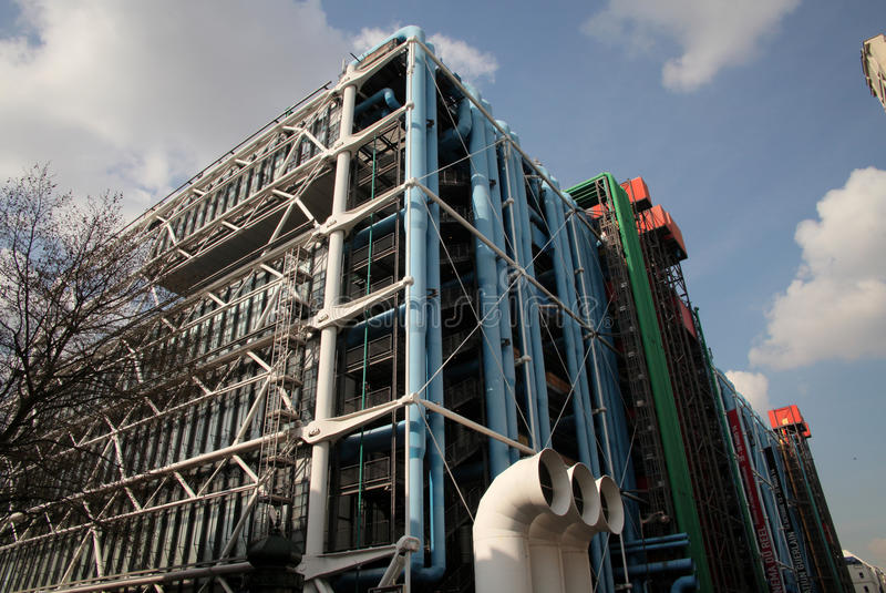 Centre Pompidou museum in Paris. Centre Georges Pompidou museum in Paris, France stock photo