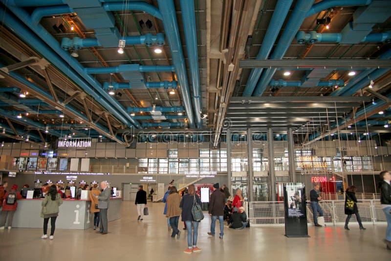Centre Pompidou muzeum w Paryż fotografia stock