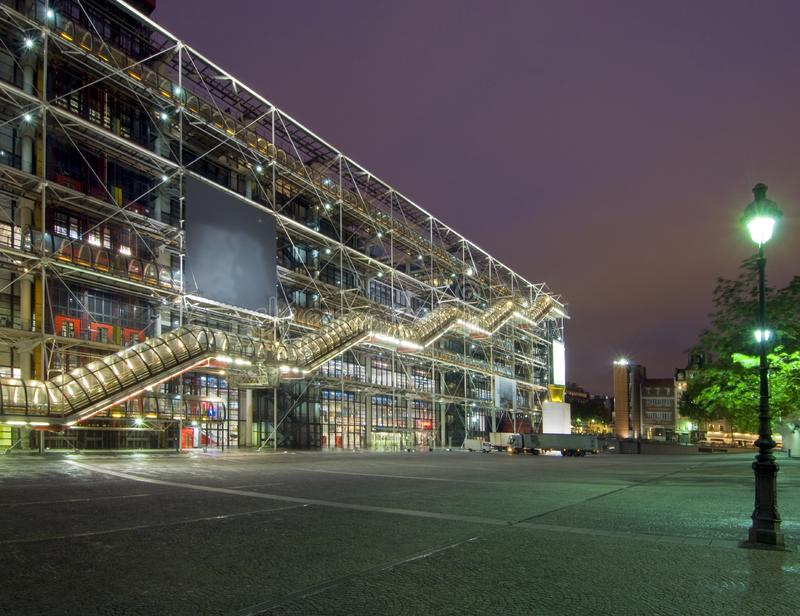 Centre Pompidou at night. The famous Centre Pompidou at night royalty free stock photo