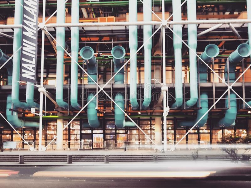 Centre Pompidou sławna deconstruction architektura w świacie, Paryż, Francja obrazy stock