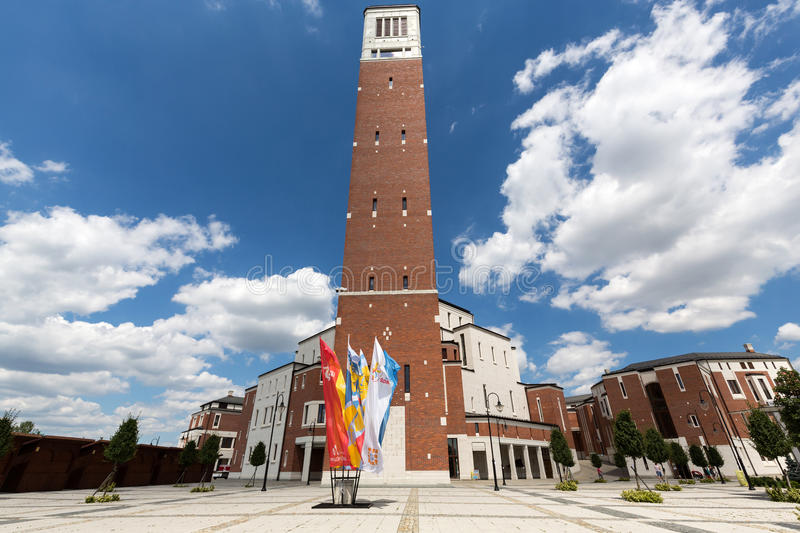 The centre of Pope John Paul II. Cracow. LagiewnikI, Poland royalty free stock image