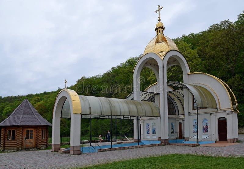 Centre spirituel de Zarvanytsia - le centre de vacances de Mariiskaya du monde, un des plus grands tombeaux de Podolian du Grec u photo stock
