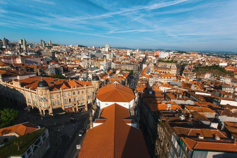 Centre ville de vue de s-oeil de ` d'oiseau le vieux de Porto, Portugal Voyage images libres de droits